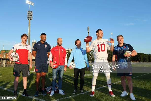 Gary Rohan of the Sydney Swans Daniel Tupou of the Roosters Jarrad McVeigh of the Swans Rhyan Grant of the Sydney Swans Kaeller Chryst of Stanford...