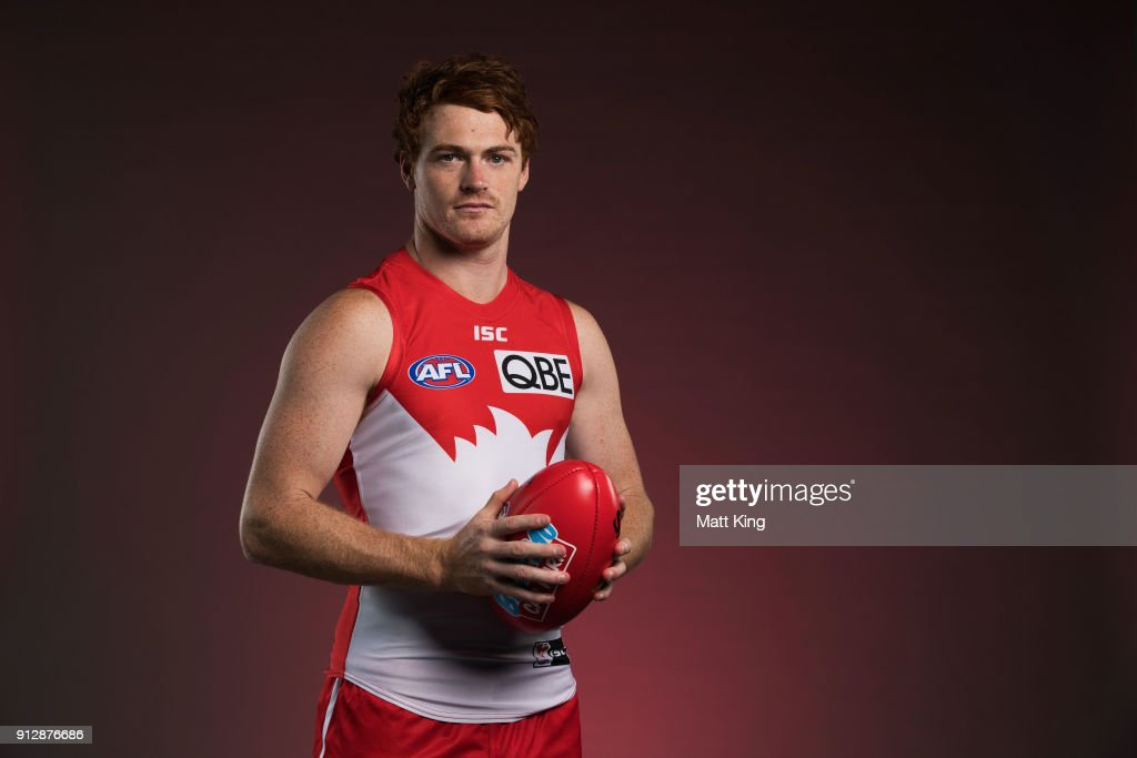 Gary Rohan poses during a Sydney Swans AFL portrait session on February 1, 2018 in Sydney, Australia.