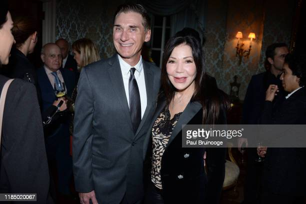 Gary Rombough and Jane Scher attend Martin And Jean Shafiroff's Thanksgiving Cocktails In Honor Of Mission Society Of NYC on November 26 2019 at...