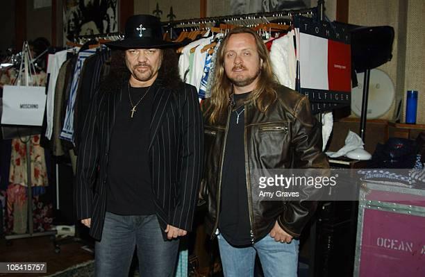 Gary Rossington and Johnny Van Zant of Lynyrd Skynyrd at Tommy Hilfiger