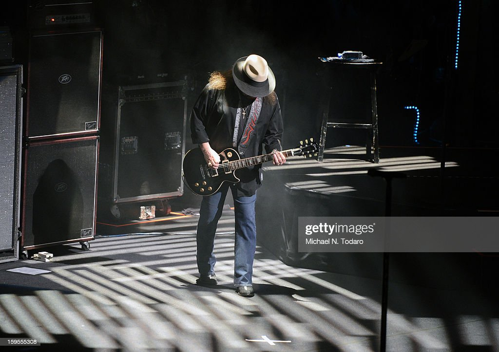 Gary Rossington performs at The Beacon Theatre on January 15, 2013 in New York City.
