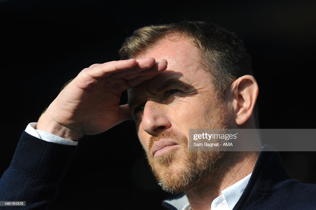 Gary Rowett manager / head coach of Birmingham City before the Sky Bet Championship match between Birmingham City and Wolverhampton Wanderers at St Andrews on October 31, 2015 in Birmingham, United Kingdom.