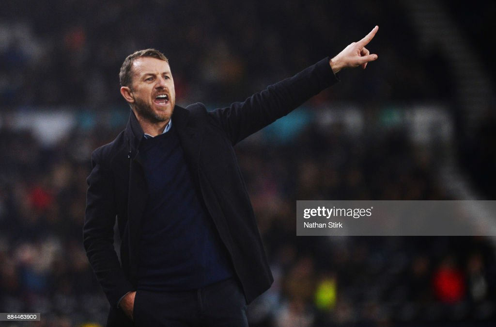 Gary Rowett manager of Derby County during the Sky Bet Championship match between Derby County and Burton Albion at iPro Stadium on December 2, 2017 in Derby, England.