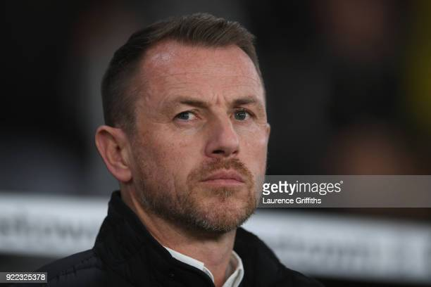 Gary Rowett manager of Derby County during the Sky Bet Championship match between Derby County and Leeds United at iPro Stadium on February 21 2018...