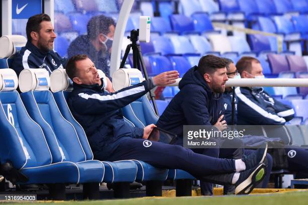 Gary Rowett, Manager of Millwall reacts during the Sky Bet Championship match between Coventry City and Millwall at St Andrew's Trillion Trophy...