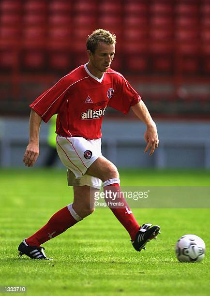Gary Rowett of Charlton Athletic on the ball during the John Robinson Testimonial match between Charlton Athletic and FC Porto at The Valley in...