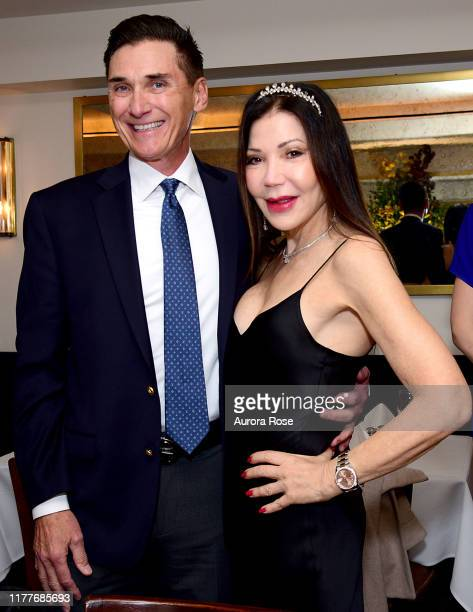 Gary Rumbough and Jane Scher attend Jane Scher's birthday party at Le Bilboquet on October 22 2019 in New York City