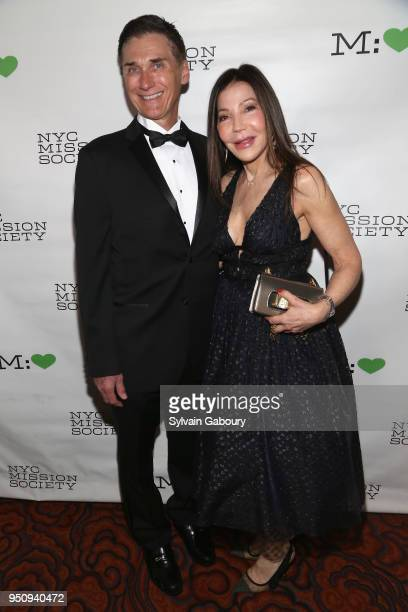 Gary Rumbough and Jane Scher attend NYC Mission Society's 2018 Champions for Children gala on April 24 2018 in New York City