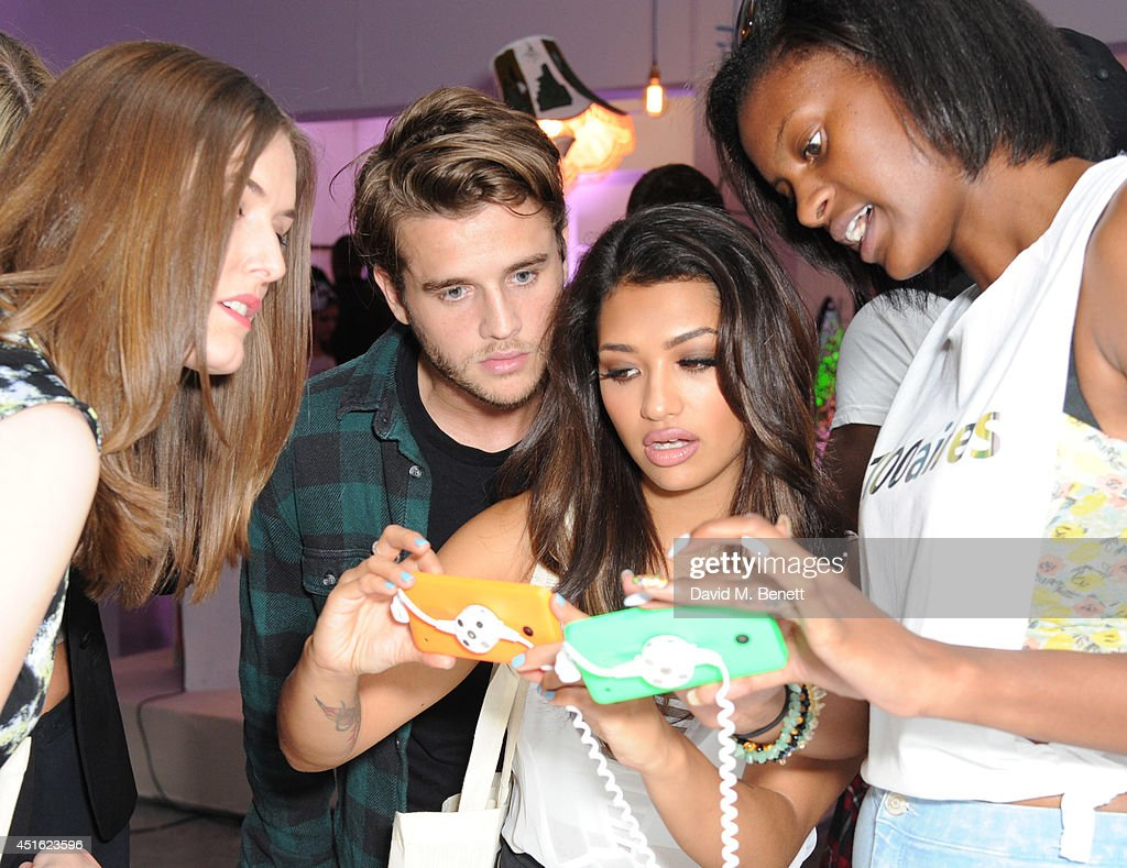 Gary Salter and Vanessa White attend the Nokia Lumia 630 #100aires Pop-up store, at The Old Truman Brewery on July 2, 2014 in London, England.