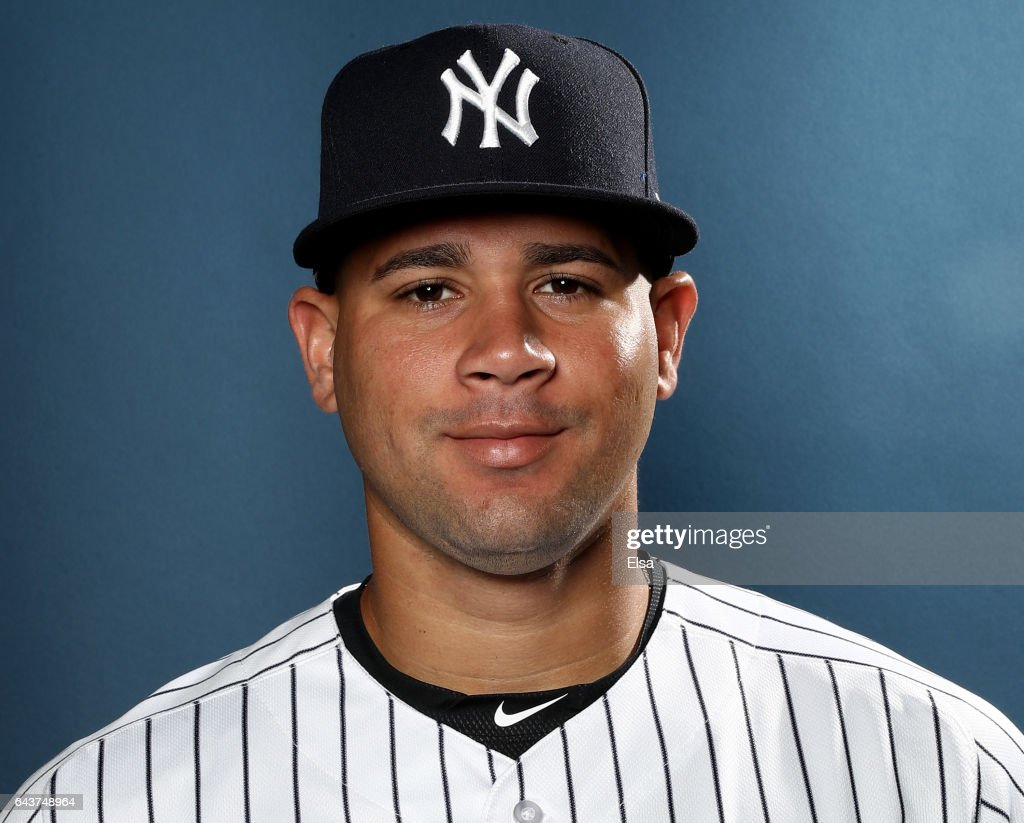 Gary Sanchez #24 of the New York Yankees poses for a portrait during the New York Yankees photo day on February 21, 2017 at George M. Steinbrenner Field in Tampa, Florida.
