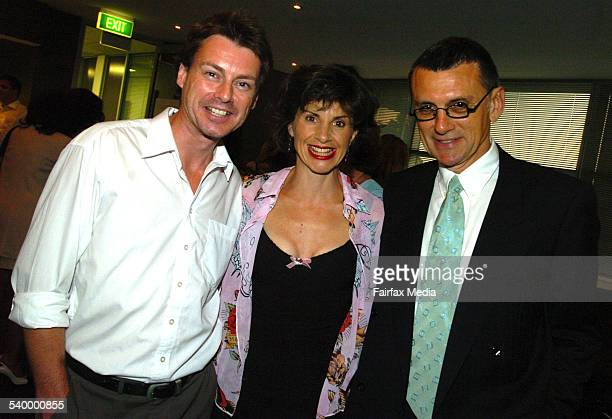 Gary Seeger, Monica Trapaga and Garcia Stjohn at the Royal Hospital for Women Mother's Day appeal launch at the Sydney Swans Club Lounge, SCG, 29...