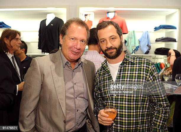 Gary Shandling and Judd Apatow attend the launch of the 2009 Pink Croc Collection to benefit the Breast Cancer Research Foundation held at the...