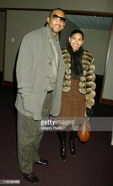 """Gary Sheffield and DeLeon Richards during """"The Woodsman"""" New York Cit y Premiere - Inside Arrivals at The Skirball Center in New York City, New York,..."""