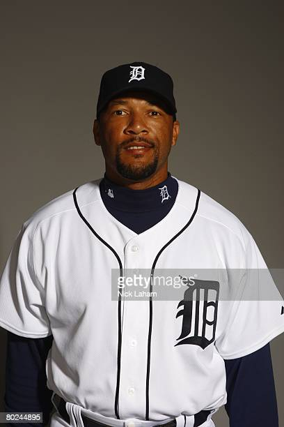 Gary Sheffield of the Detroit Tigers poses for a portrait during Photo Day on February 23 2008 at Joker Marchant Stadium in Lakeland Florida