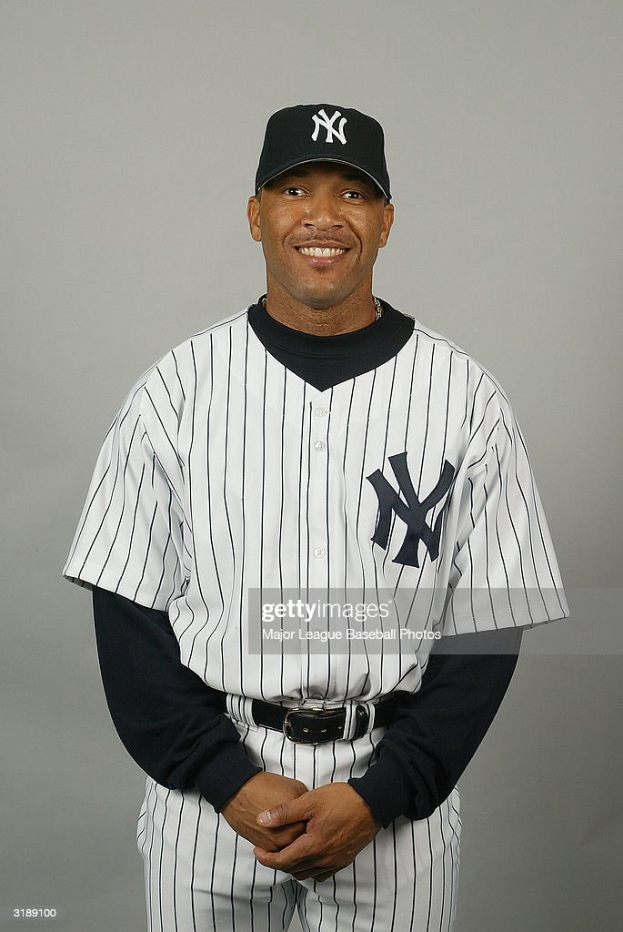 Gary Sheffield #11 of the New York Yankees poses for a photo on February 26, 2004 in Tampa, Florida.