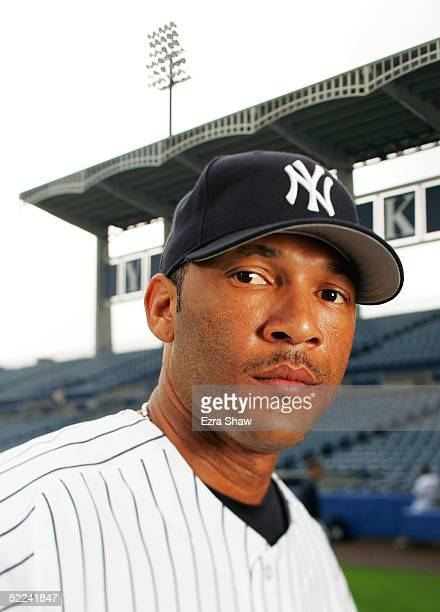 Gary Sheffield of the New York Yankees poses for a portrait during Yankees Photo Day at Legends Field on February 25 2005 in Tampa Florida