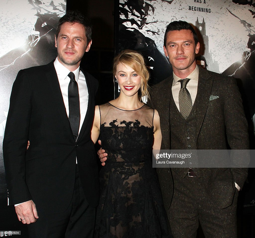 Gary Shore, Sarah Gadon and Luke Evans attend 'Dracula Untold' New York Premiere at AMC Loews 34th Street 14 theater on October 6, 2014 in New York City.