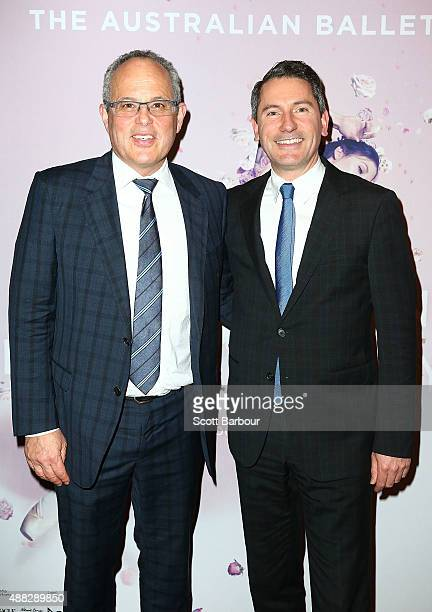 Gary Singer and Geoffrey Smith attend the Australian Ballet's 'The Sleeping Beauty' opening night at Arts Centre Melbourne on September 15 2015 in...
