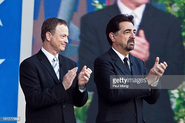 Gary Sinise and Joe Mantegna attend the 21st Annual PBS National Memorial Day Concert rehearsals at the US Capitol on May 29 2010 in Washington DC