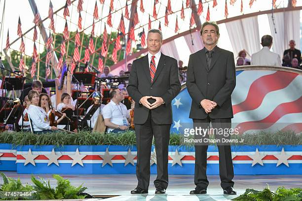 Gary Sinise and Joe Mantegna during 26th Anniversary Broadcast of the National Memorial Day Concert rehearsals at US Capital West Lawn on May 23 2015...