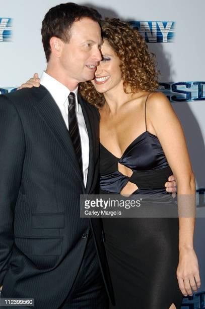 Gary Sinise and Melina Kanakaredes during CSI NY New York Premiere at Ed Sullivan Theater in New York City New York United States