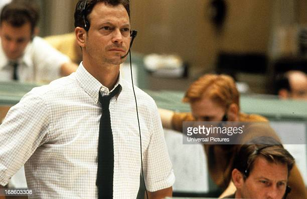 Gary Sinise in control center in a scene from the film 'Apollo 13' 1995