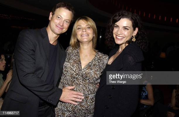 Gary Sinise Kathryn Erbe and Julianna Margulies during 'The Human Stain' New York City Premiere After Party at Brasserie 8 1/2 in New York City New...