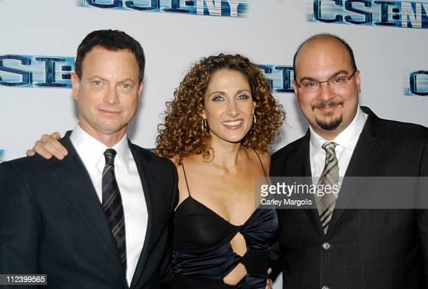 Gary Sinise Melina Kanakaredes and Anthony Zuiker cocreator/executive producer