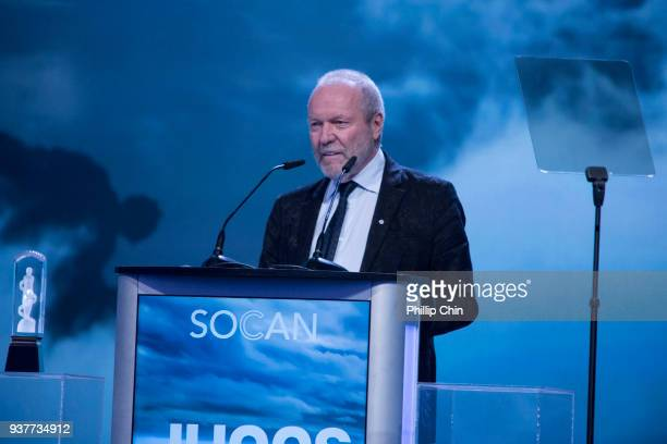 Gary Slaight receives the Humanitarian Award at the Juno Gala Dinner and Awards at the Vancouver Convention Centre on March 24 2018 in Vancouver...
