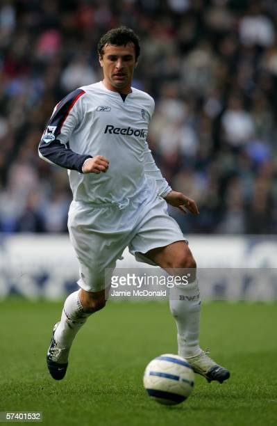 Gary Speed of Bolton is seen in action during the Barclays Premiership match between Bolton Wanderers and Charlton Athletic at the Reebok Stadium on...