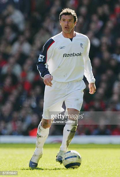 Gary Speed of Bolton Wanderers in action during the Barclays Premiership match between Liverpool and Bolton Wanderers at Anfield on April 9 2006 in...