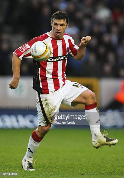 Gary Speed of Sheffield United in action during the CocaCola Championship match between Wolverhampton Wanderers and Sheffield United at Molineux on...