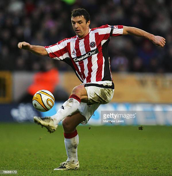 Gary Speed of Sheffield United makes his debut during the CocaCola Championship match between Wolverhampton Wanderers and Sheffield United at...