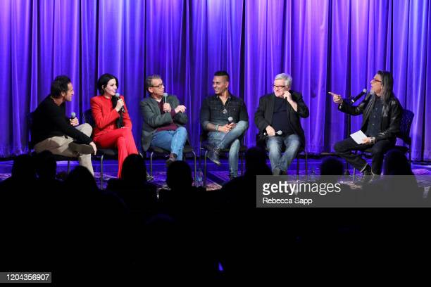Gary Spivack, Dorothy, Jonathan McHugh, Jose Mangin and Andy Gould speak with Scott Goldman at Reel To Reel: Long Live Rock…Celebrating The Chaos at...