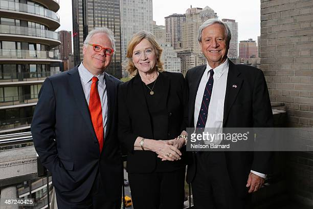 Gary Springer actress Liv Ullmann and Donald Saunders attend the National Meningitis Association's Give Kids A Shot gala at the New York Athletic...