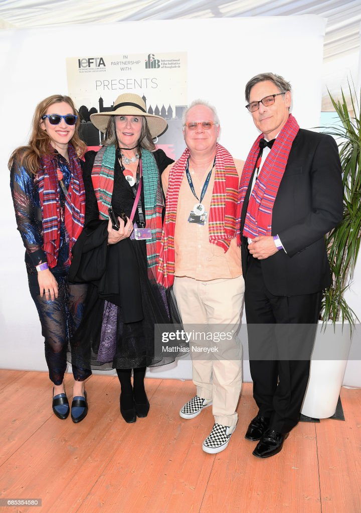 Gary Springer (2nd R) and guests attend From Dhaka to Cannes: A Celebration of Talent hosted by the International Emerging Film Talent Association(IEFTA) at La Plage Royale on May 19, 2017 in Cannes, France.