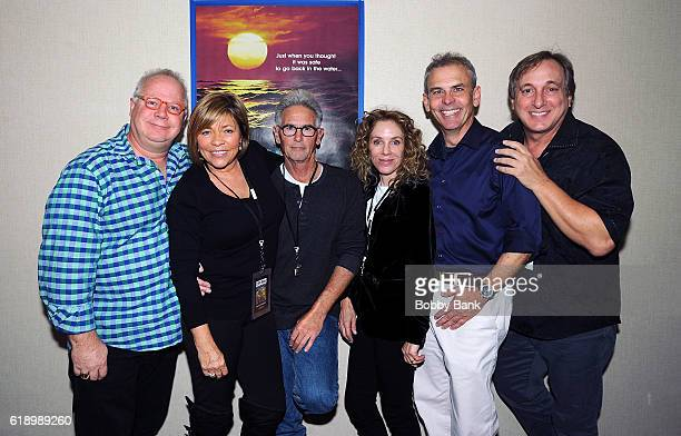 Gary Springer Donna Wilkes Tom Dunlop Gigi Vorgan Billy Van Zandt and Ben Marley of Jaws 2 attends 2016 Chiller Theatre Expo Day 1 at Parsippany...