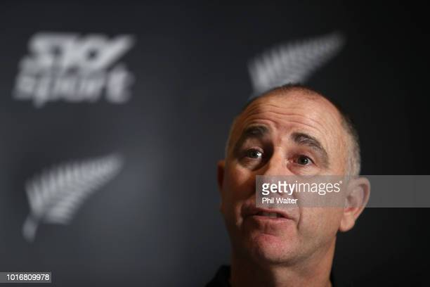 Gary Stead speaks to media after being annouced as the new Blackcaps Head Coach at a New Zealand Cricket press conference on August 15 2018 in...
