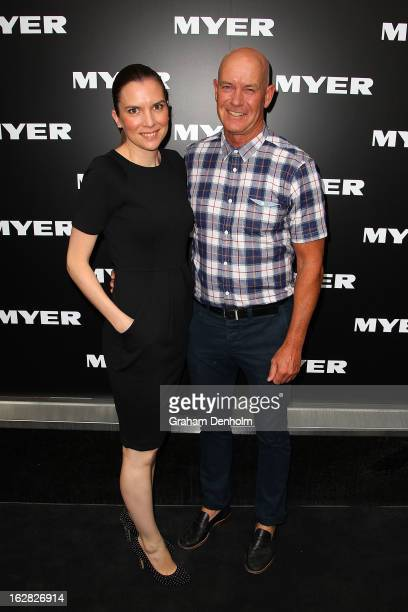 Gary Sweet and Nadia Dyall arrive at the Myer Autumn/Winter 2013 collections launch at Mural Hall at Myer on February 28 2013 in Melbourne Australia