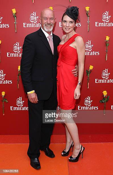 Gary Sweet and Nadia Dyall attend the Emirates marquee during Emirates Melbourne Cup Day at Flemington Racecourse on November 2 2010 in during...
