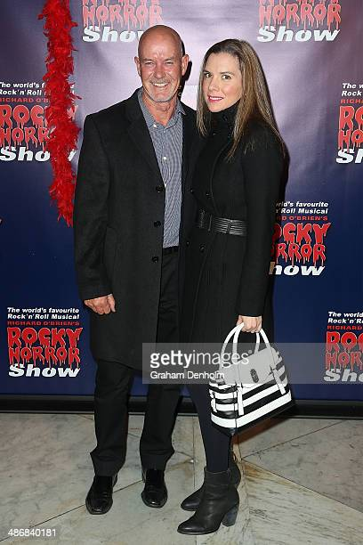 Gary Sweet and Nadia Dyall attend the Melbourne premiere of the Rocky Horror Musical on April 26 2014 in Melbourne Australia