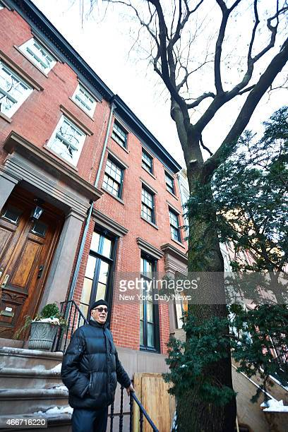 Gary Tomei father of actress Marisa Tomei outside his Greenwich village apartment on Tuesday Feb 3 2015 in New York NY Tomei's parents are suing John...