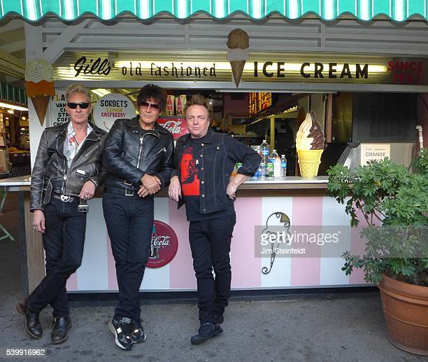 Gary Twinn Clem Burke and James Stevenson of the rock band The International Swingers pose for a portrait at the Farmers Market in Los Angeles...