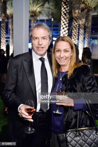 Gary Ungar and Angela Johnson attend the 2017 LACMA Art Film Gala Honoring Mark Bradford and George Lucas presented by Gucci at LACMA on November 4...