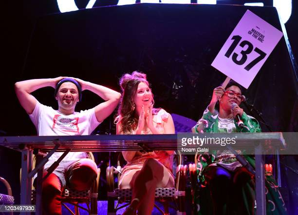 Gary Vaynerchuk Amanda Cerny and Teyana Taylor attend ONE37pm x Dwyane Wade's Masters of the Mic Karaoke at Night Two of BUDX Miami by Budweiser on...