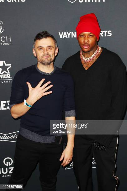 Gary Vaynerchuk and YG attend VaynerSports x ONE37pm Emerging Kings Party on February 01 2019 in Atlanta Georgia