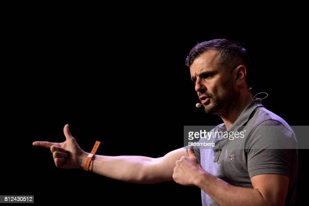 Gary Vaynerchuk chief executive officer of VaynerMedia LLC speaks during the Rise conference in Hong Kong China on Tuesday July 11 2017 The...
