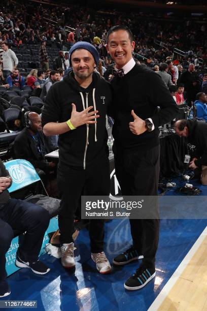 Gary Vaynerchuk is seen before the game between the Minnesota Timberwolves and the New York Knicks on February 22 2019 at Madison Square Garden in...
