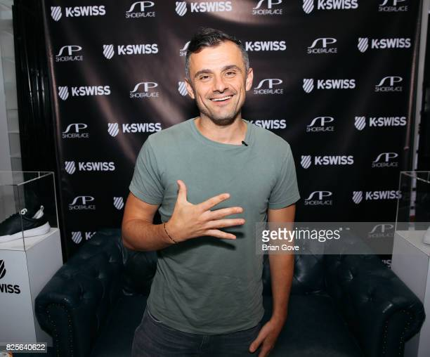 Gary Vaynerchuk meet and greet in collboration K Swiss Event at Shoe Palace on August 1 2017 in Los Angeles California