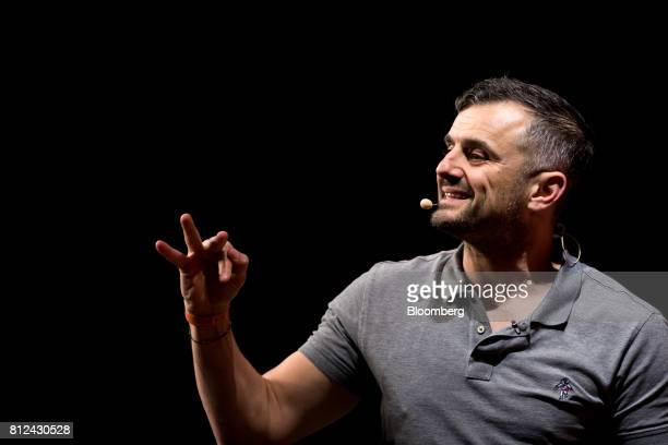 Gary Vaynerchuk partner at VaynerRSE speaks during the Rise conference in Hong Kong China on Tuesday July 11 2017 The conference runs through to July...